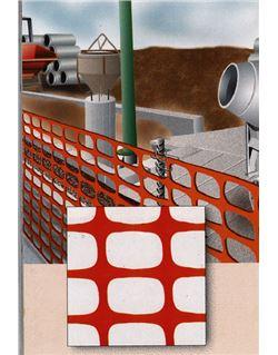 Valla obras plastico naranja 50 mt.x1