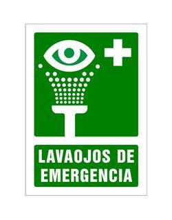 Señal 210x297 pvc 103 lavaojos de emergencia