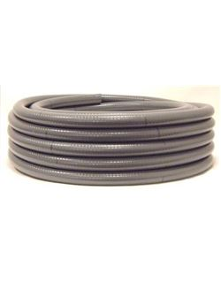 Mt. tubo pvc flexible esp. 20 m/m.
