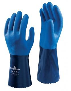 Guante showa 720 nitrilo azul