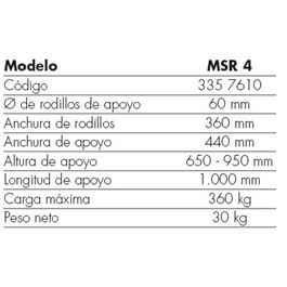 Banco de trabajo rodillo msr 4 - MSR 4