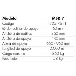 Banco de trabajo rodillo msr 7 - MSR 7