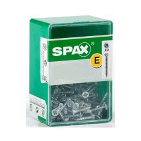 Caja 125 tornillos 4x30 din 82 abc spax-s c/pl. zinc.