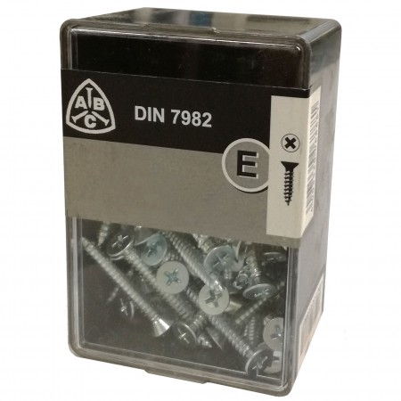Caja 155 tornillos din 7982 chapa 3,9x22 c/pla. galv.
