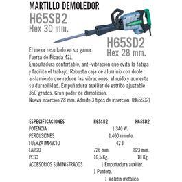 """Martillo picador h65sb2 """"""""oferta"""""""" - H65SB2"""