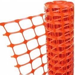 Valla obras plastico naranja 50 mt.x1,2