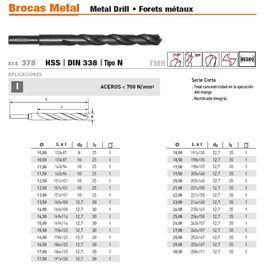 Broca m/reduccion din 338 16 - MANGO REDUCIDO