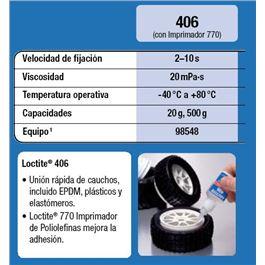 Bote plasticos 406 500 gr. - LOCTITE 406