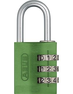 Candado comb. aluminio 145/20 verde b