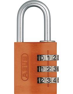 Candado comb. aluminio 145/20 naranja b