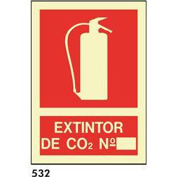 Señal 210x297 pvc 027 extintor de co2