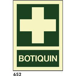 Señal 210x297 pvc 100 botiquin
