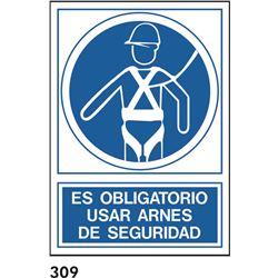 Señal 210x297 pvc 161 313 oblig. usar arnes