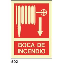 Señal 210x297 pvc 011 512 boca de incendio