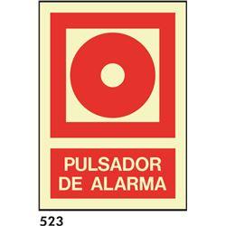 Señal 210x297 pvc 025 533 pulsador de alarma