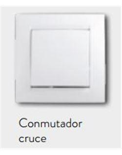 Simon 15 conmutador cruce blanco