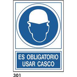 Señal 210x297 pvc 131 301 oblig. usar casco