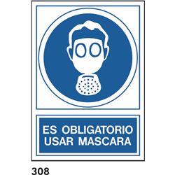 Señal 210x297 pvc 158 309 oblig. usar masc.