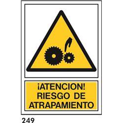 Señal 210x297 pvc 350 riesgo de atrapam.