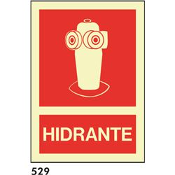 Señal 210x297 pvc 026 536 hidrante