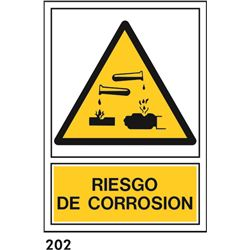 Señal 210x297 pvc 321 935 riesgo de corrosion