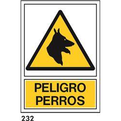 Señal 210x297 pvc 331 930 cuidado con el perro