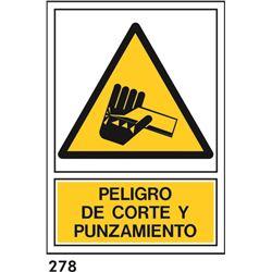 Señal 210x297 pvc 353 peligro de corte