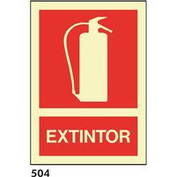 Señal 210x297 pvc 004 501 extintor