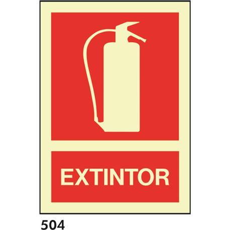 Señal 210x297 pvc 004 501 extintor - 504