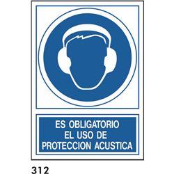 Señal 210x297 pvc 129 b304 oblig.usar prot.acust.