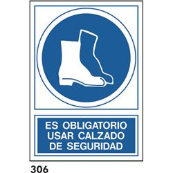 Señal 210x297 pvc 140 315 oblig. usar botas