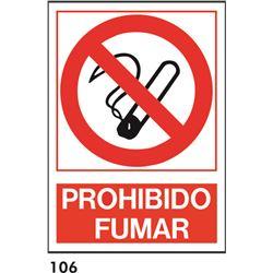 Señal 210x297 pvc 201 prohibido fumar