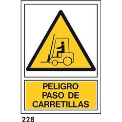 Señal 210x297 pvc 336 926 paso de carretillas