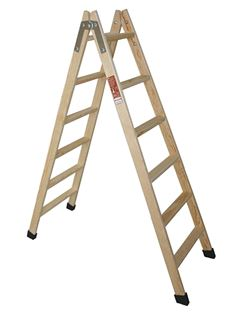 Escalera pintor madera 10 peld. plano