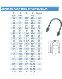 """Abarcon galvanizado 60 2"""" - ABARCON-PARA-TUBO-C_TUERCA-GALV"""