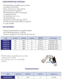 """Bomba p/fuente microfontirete"""" 12 c.c. 12v"""""""