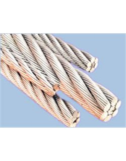 Rollo 50 mts. cable acero galv. 6.19.1 6