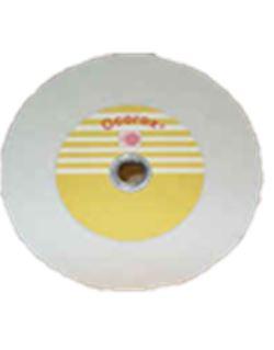 Muela co. blanco/naranja plana 025x13