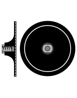 Disco flexible 125 mm. m-14 adhesivo