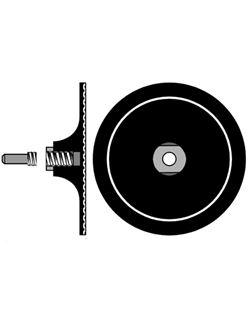 Disco flexible 125 mm.+ espiga 8 mm. vel
