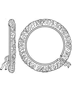 Bonete lana 180 mm. fijación cuerda