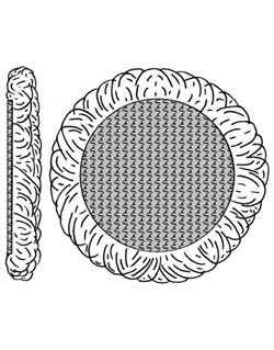 Bonete lana 150 mm. fijación rapida