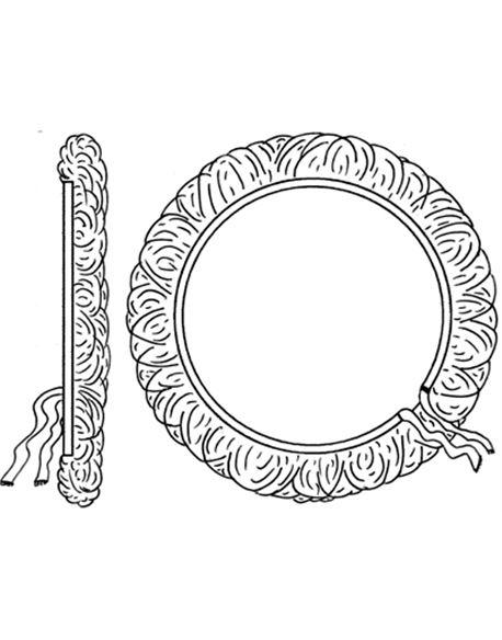 Bonete lana 150 mm. fijacion cuerda - 04_1