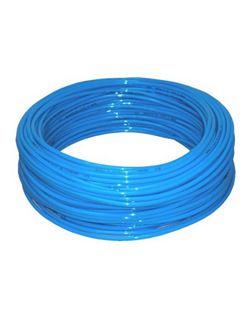 Tubo poliuretano pu98 azul r/25 mt. 2,5x4