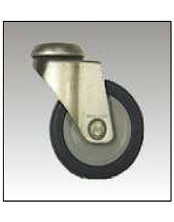 Rueda goma gris pasador p/Tornillodiámetro x métrica 150