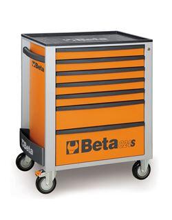 Carro herramientas 7 cajones naranja c24s/7