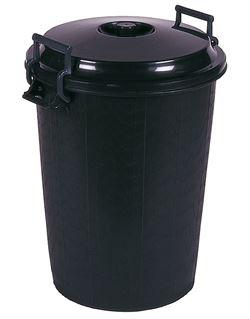 Cubo basura negro 95 lt.